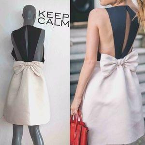 Kate Spade New York Satin Faille Bow Back Dress 14